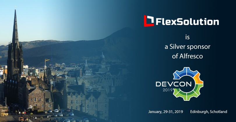 FlexSolution is a Silver sponsor of Alfresco DevCon 2019